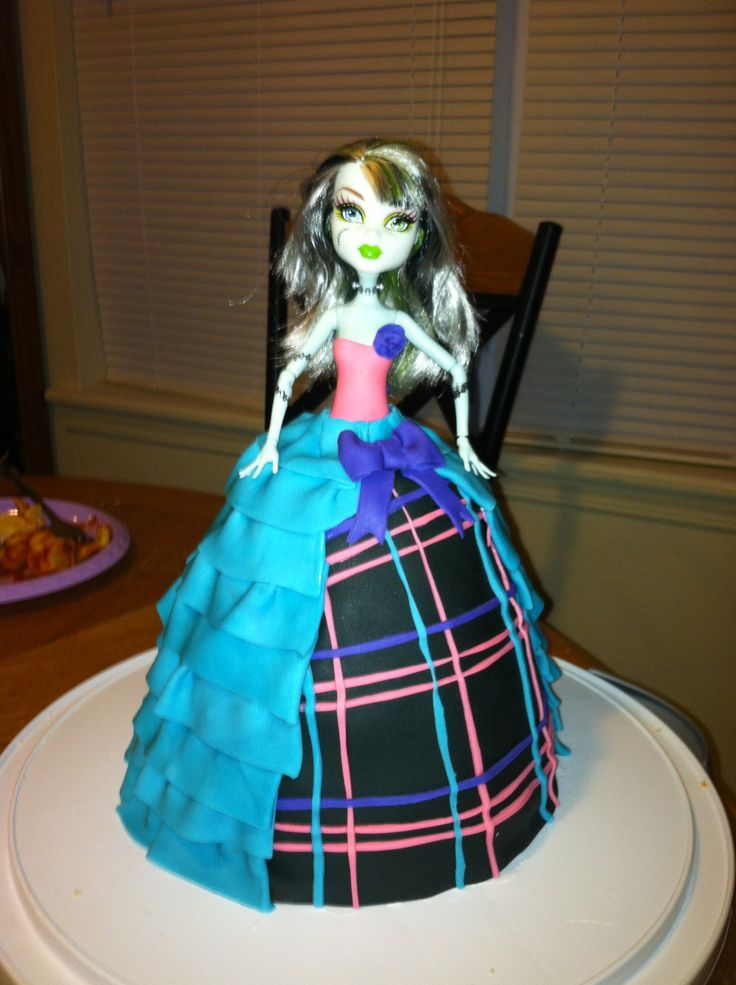 Default - Monster high doll cake. I couldnot find my ...