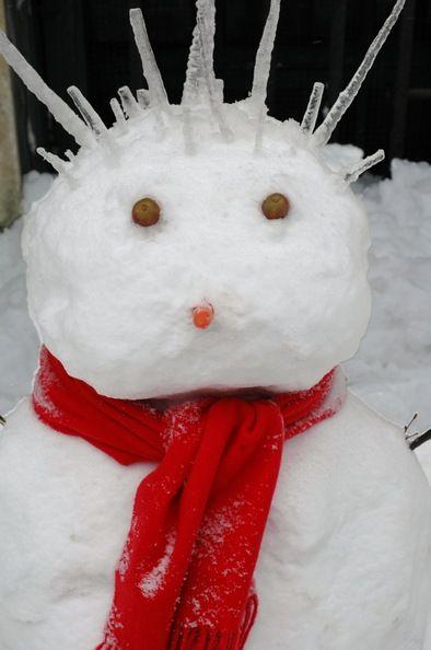 From... Interesting Snowman Photos: Fun & Unusual Ways To Build Snowmen ~ Punk Rocker