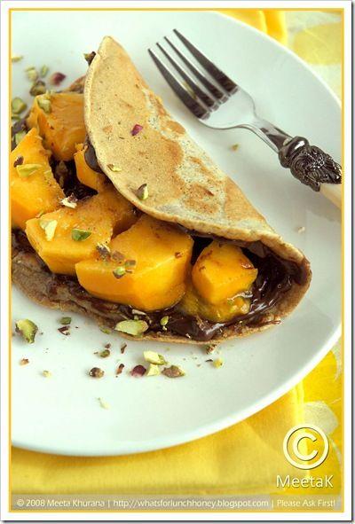Mango Nutella Pancakes
