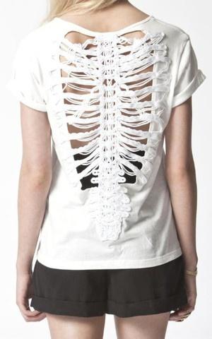 Skeleton backed shirt