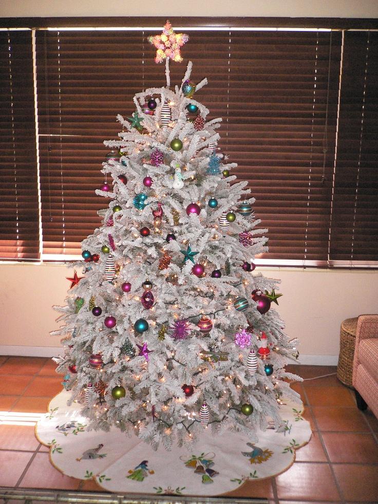 Pin by jennifer french on white christmas tree pinterest for White christmas tree pinterest