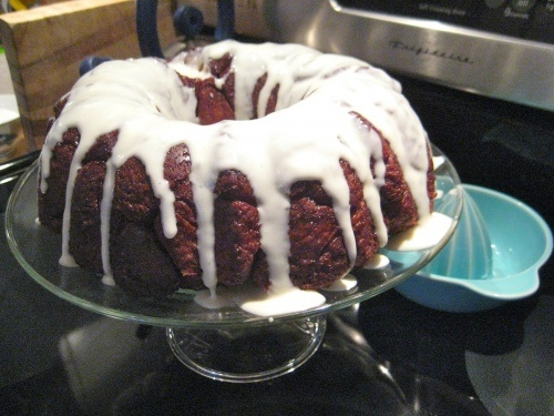 Monkey Bread, with browned butter and Cream Cheese Glaze