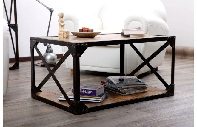 Table basse metal loft - Table basse industrielle conforama ...