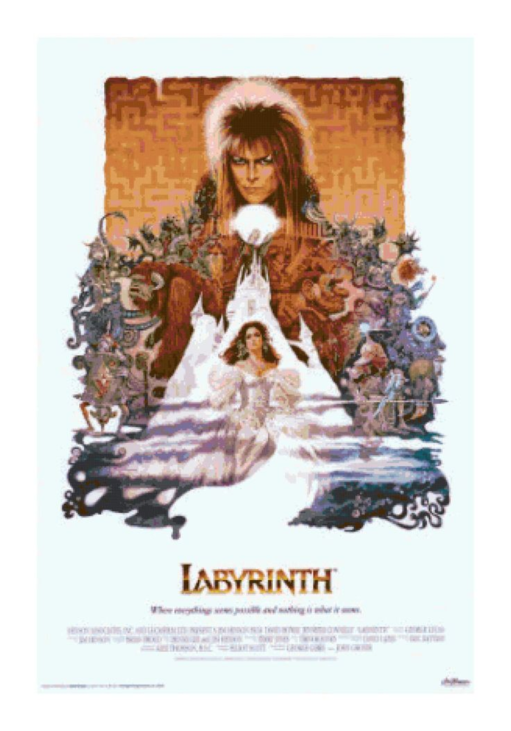 handmade vintage labyrinth movie poster pdf crossstitch