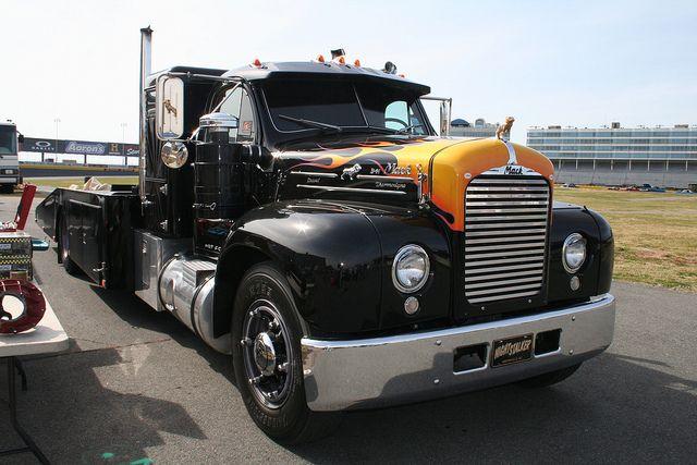 Semi Truck That S Also A Toy Car Holder : Custom mack b car hauler vintage semi trucks pinterest