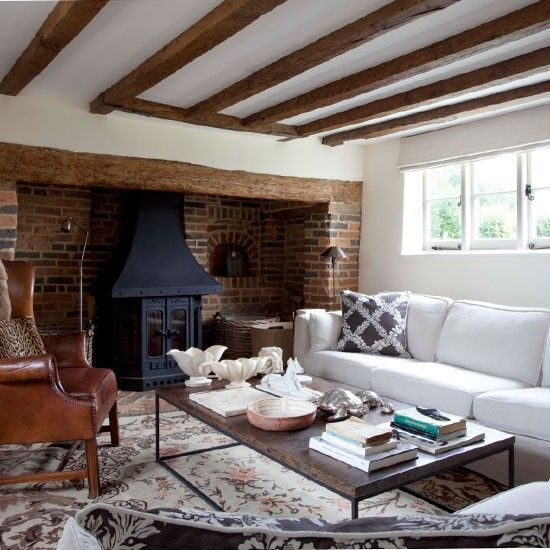 Country cottage living room home and interiors pinterest for Country cottage living room decorating ideas