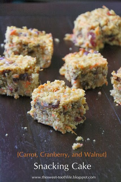 Carrot, Cranberry, and Walnut Snacking Cake ~ quick oats, OJ, coconut ...