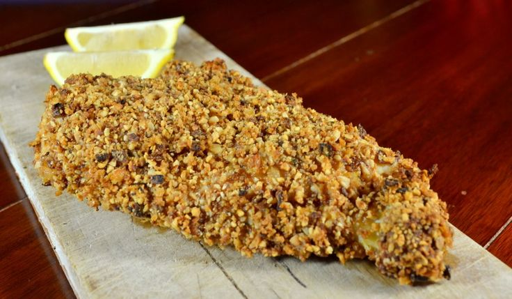 Nut-Crusted Chicken Breast with Lemon and Thyme