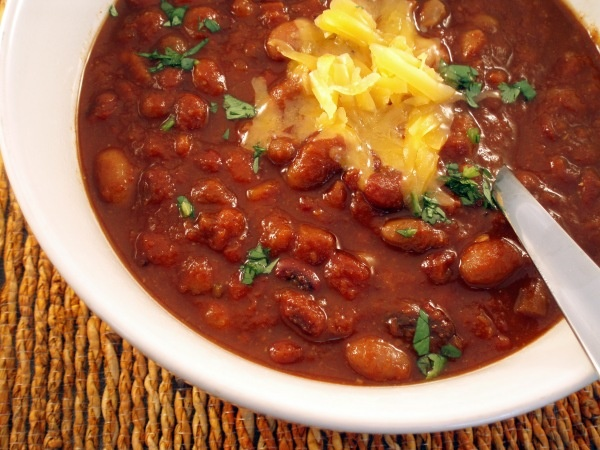 Vegetarian chili! Yum!