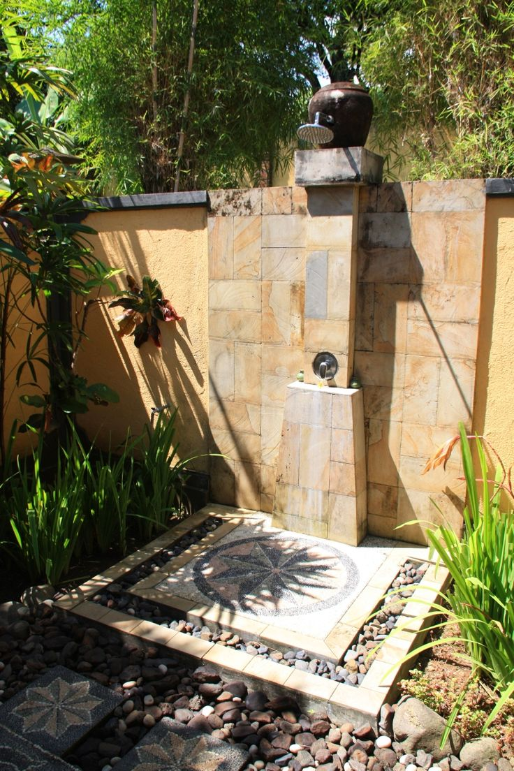 Pin by michele mcentire on bath time pinterest for Outdoor shower floor ideas