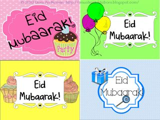 A Muslim Child is Born: Free Eid Card Printables!