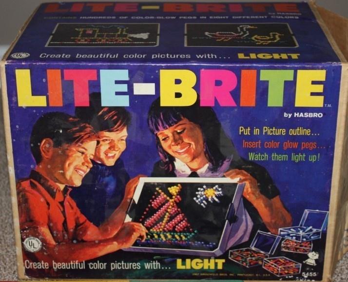HASBRO: 1967 Lite-Brite Set #Vintage #Toys