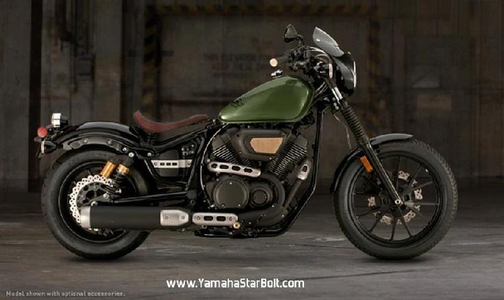 Green tank yamaha star bolt motorcycle wish list pinterest for Green yamaha bolt
