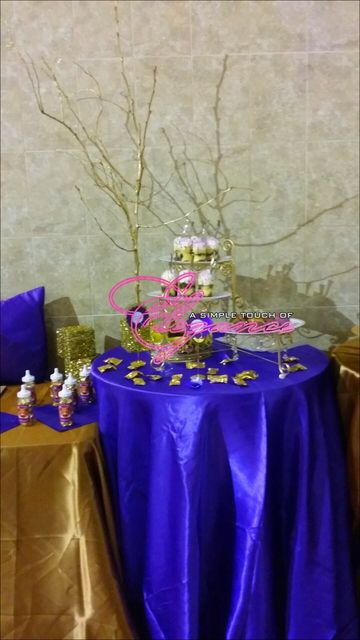 wendy purple and gold royal affair