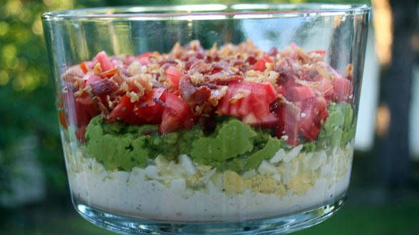 Cobb Salad Layer Dip Try this classic salad as a dipper! by Rachael ...