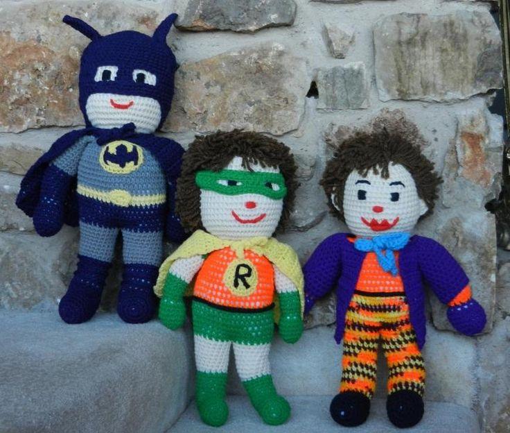 Batman Amigurumi Crochet Pattern Free : Batman Crochet Pattern Crochet Pinterest