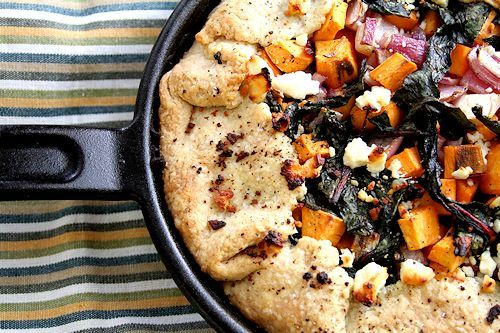 Sweet Potato, Red Onion and Kale Galette | food deliciousness | Pinte ...