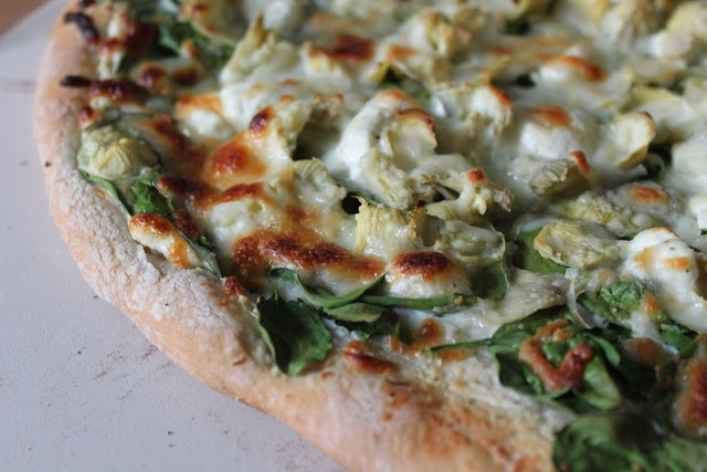 Spinach artichoke pizza | Recipes to try | Pinterest