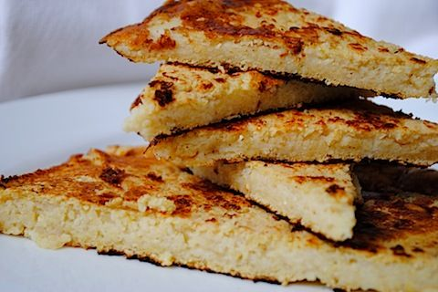 Socca - derived from garbanzo flour (chickpeas). Read this blog page ...