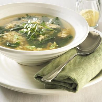 Stracciatella Soup with Baby Spinach | soup | Pinterest