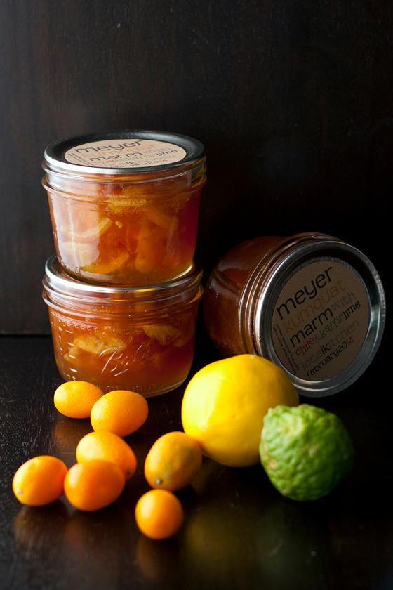 Kumquat Meyer lemon marmalade with Chile & Kaffir Lime