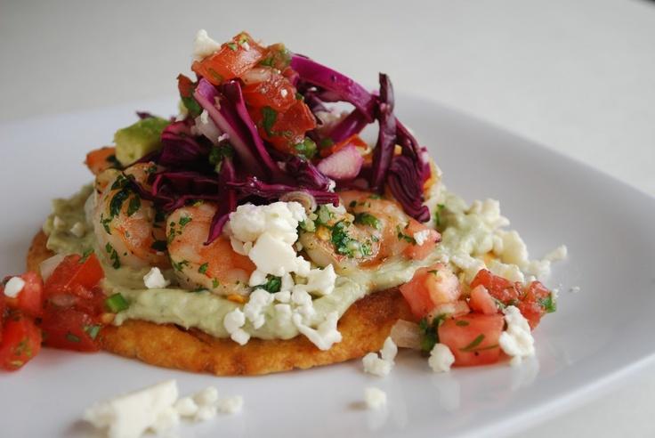 More like this: shrimp tostadas , tomato salsa and tostadas .
