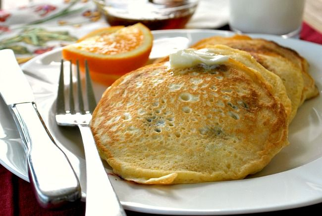 Blueberry Cornmeal Pancakes - yum :)
