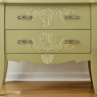 Furniture makeovers 1 chest 3 ways - Paint stencils for furniture ...