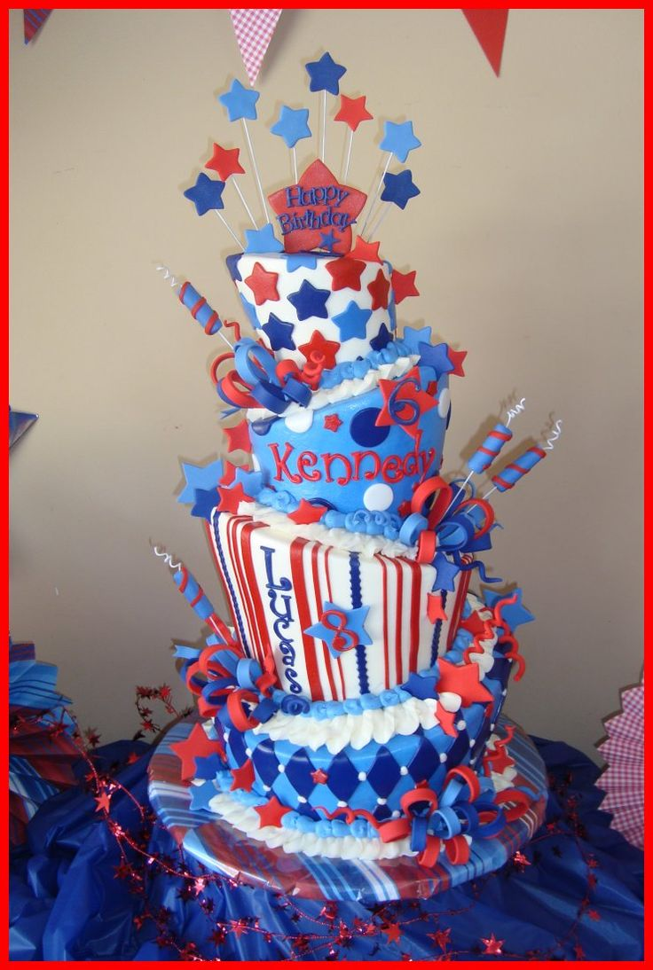 4th of July cake for my kiddos..How CUTE !!