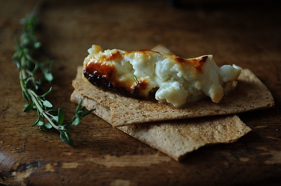 Roasted Feta with Thyme Honey by Food 52 | Recipes to try | Pinterest