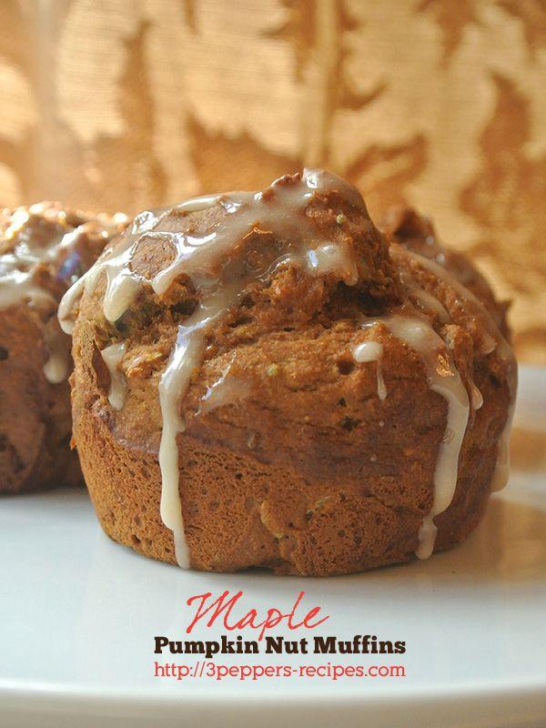 maple pumpkin nut muffin recipe #fall #maple #pumpkin #muffins