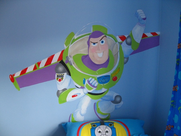 buzz lightyear wall mural toy story birthday pinterest