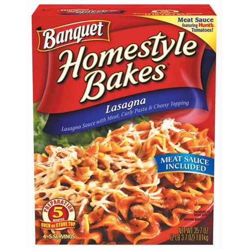 Banquet Homestyle Bakes Lasagna, 35.7 oz: Meal Solutions, Grains ...