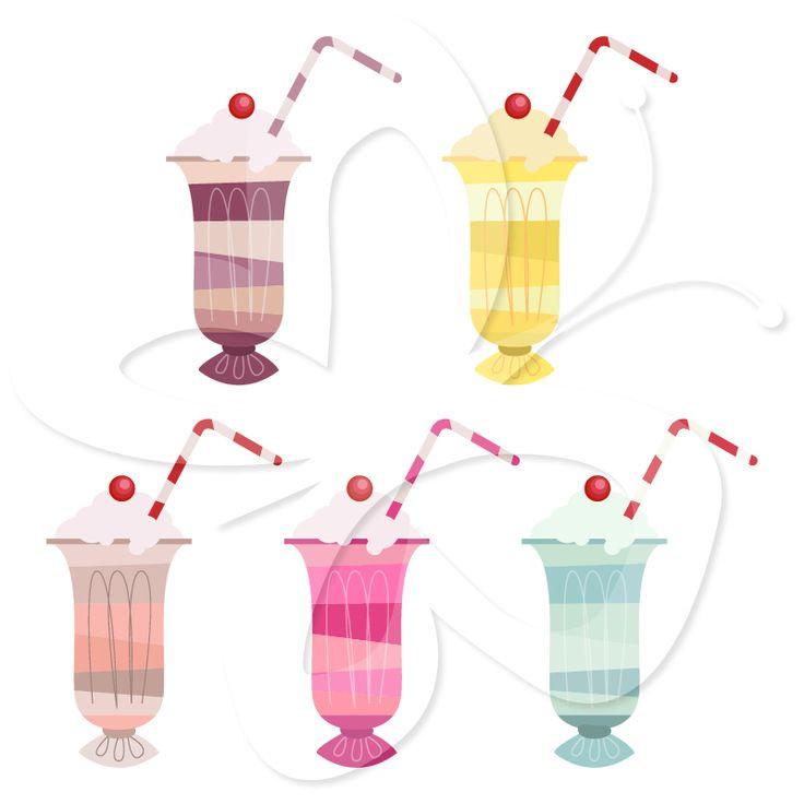 Milkshake Clip Art $4 | Food Clip Art | Pinterest