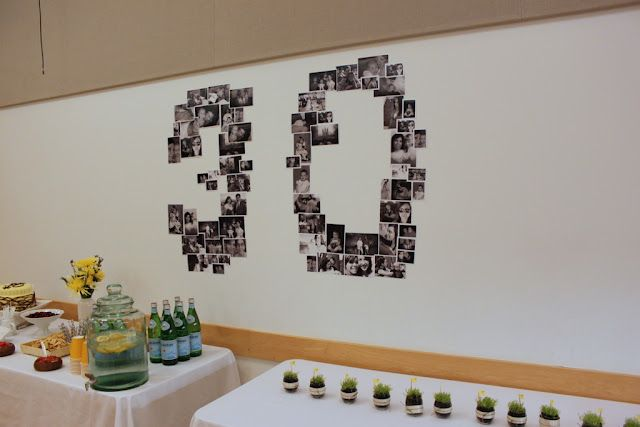 Photo wall 30th birthday party ideas pinterest for 30th birthday party decoration ideas