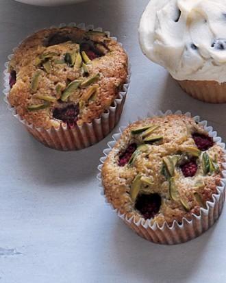 Pistachio Cupcakes with Raspberries   Recipe