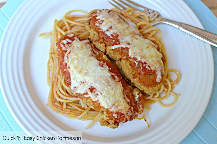 Quick 'N' Easy Chicken Parmesan #shop | food food food | Pinterest