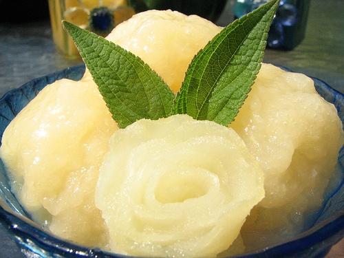 Gingered Pear Sorbet | Pear Themed Dinner Party | Pinterest