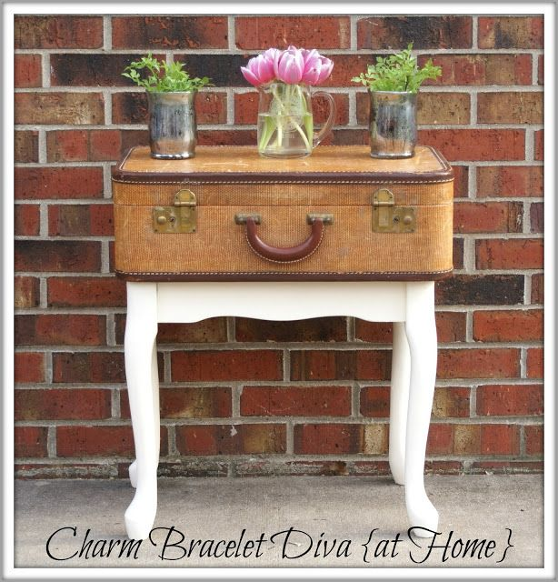 Charm Bracelet Diva {at Home}: Vintage Suitcase Side Table
