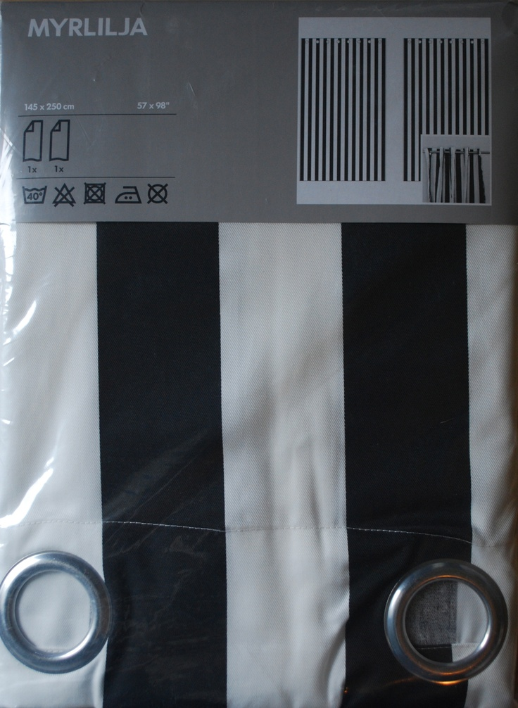 Black And White Striped Curtain Panels Black and White Striped Windo