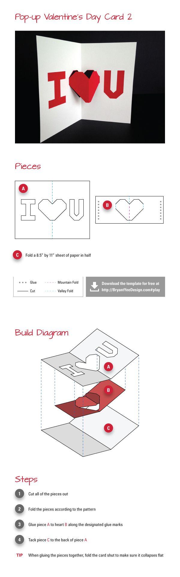 pop up valentines day cards pinterest