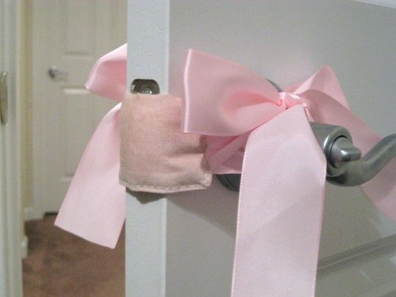 Baby's Room DOOR MUFF - open and close your baby's room door without making a noise.  BRILLIANT!!!!!