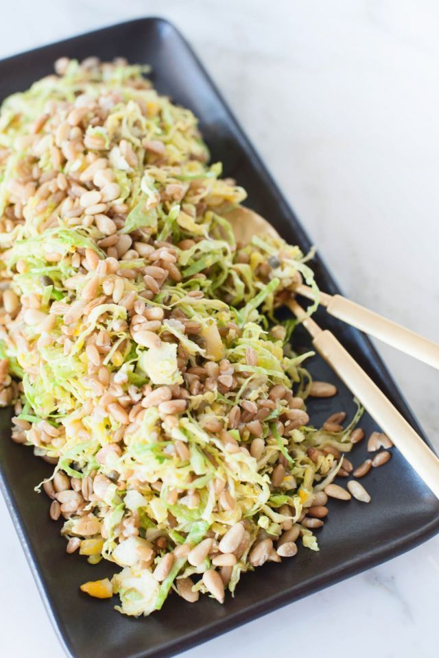 Shredded Brussels sprout with farro | L E T 'S E A T | Pinterest