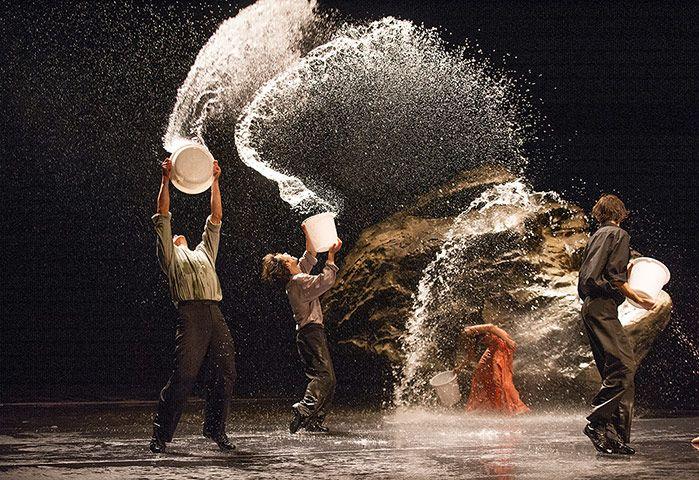 Vollmond: A scene from Vollmond by Tanztheater Wuppertal Pina Bausch