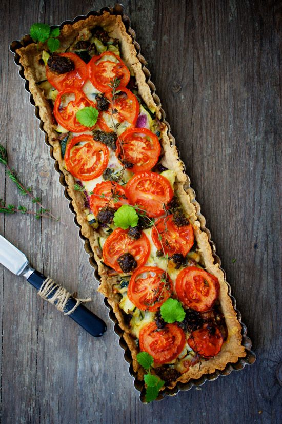 Tomato Tart--so ready for summer tomatoes. I'm going to be spending so ...