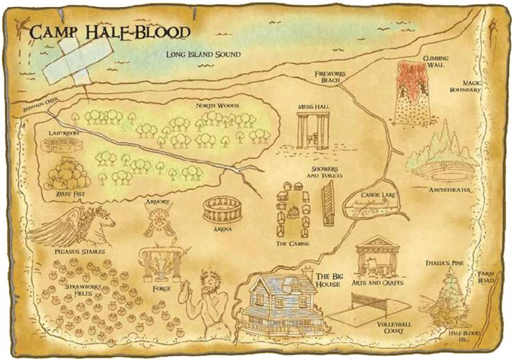 Official Map Of Camp Half Blood  My Fandoms  Pinterest