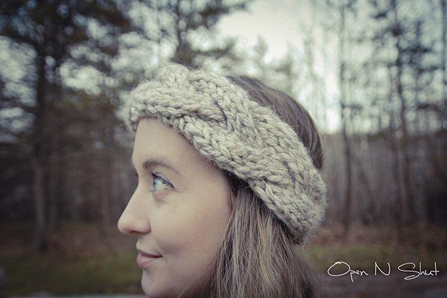 Free pattern! Big cable knit headband Future Projects ...