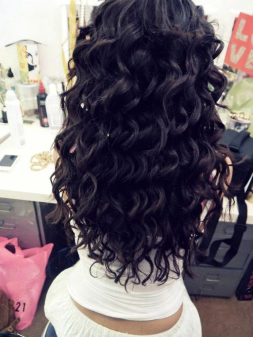 Curly hair tumblr back view