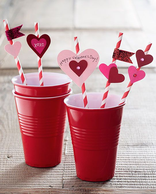 Valentine Straws How-To for Paper Source as featured on seattle.todaysmama.com