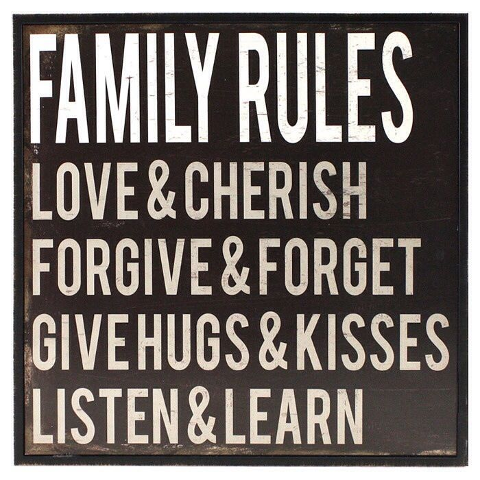 family rules family quotes pinterest
